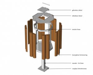 duurzame houten afvalbakken jaap de vries